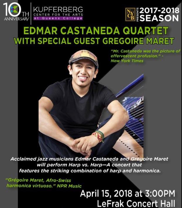 Edmar Castaneda Quartet with Special Guest Gregoire Maret